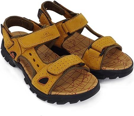 Chaussures de Sport Homme Sandale Cuir Marche Plage Sketchers Hommes Air Été Decontracte Respirant Randonnée