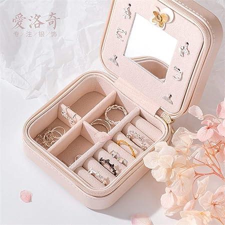 Gu3Je Joyero Viajes Portable de la joyería Pendientes de Almacenamiento Caja joyero para Guardar Joyas (Color : Pink, Size : 10x10x5cm): Amazon.es: Hogar