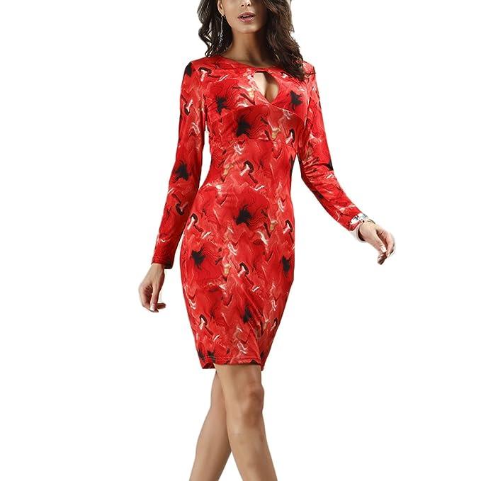 Mujer Vintage Coctel Fiesta Dress Impreso Corto Vestido Sexy Cintura Alta Apretado Lápiz Vestidos da Partido Moda Noche Atractivo Cuello V Estiramiento ...