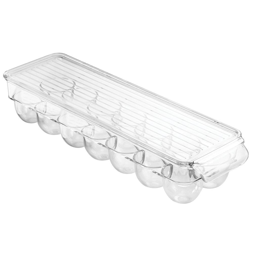 Transparent Rangement pour /œufs empilable en Plastique pour 14 /œufs InterDesign Fridge//Freeze Binz Boite /à /œufs