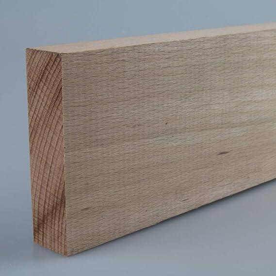 Quadratleiste Bastelleiste Abschlussleiste Abdeckleiste aus unbehandeltem Buche-Massivholz 2100 x 20 x 20 mm