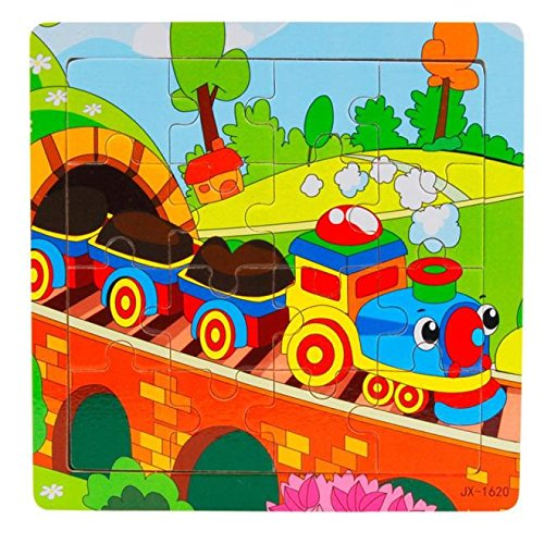Inverlee Wooden Kids 16 Piece Jigsaw Toys For Children Education And Learning Puzzles Toys