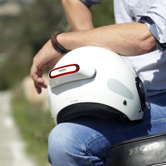 Cosmo Connected, Luz de Freno conectada e Inteligente para motoristas, Color Blanco Brillante: Amazon.es: Coche y moto