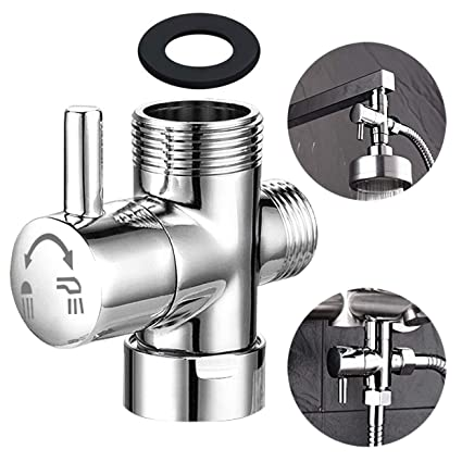Shower Head Diverter Valve.Shower Arm Diverter For Hand Shower G 1 2 3 Way Shower Head Diverter Valve For Hand Held Showerhead And Fixed Spray Head Bathroom Universal Shower
