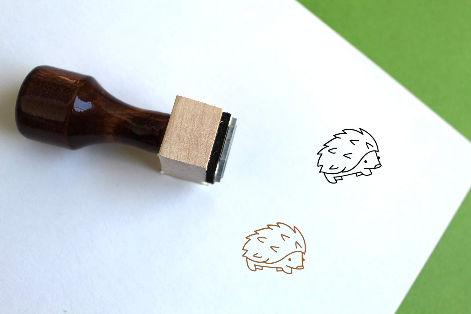 Hedgehog Rubber Stamp (2.5'' x 2.5'')