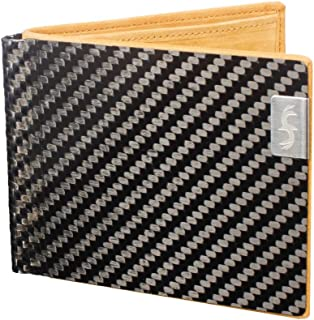 product image for Common Fibers LMX - Real Carbon Fiber & Leather RFID Blocking Slim Bifold Mens Wallet