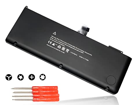 BULL Replacement 10 95V 77 5Wh New Laptop Battery for Apple A1382 A1286  (only for Core i7 Early 2011 Late 2011 Mid 2012) MacBook Pro 15
