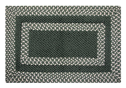 Better Trends Hercules Braided and Hand-Woven Rug, 21 by 34-Inch, Sage