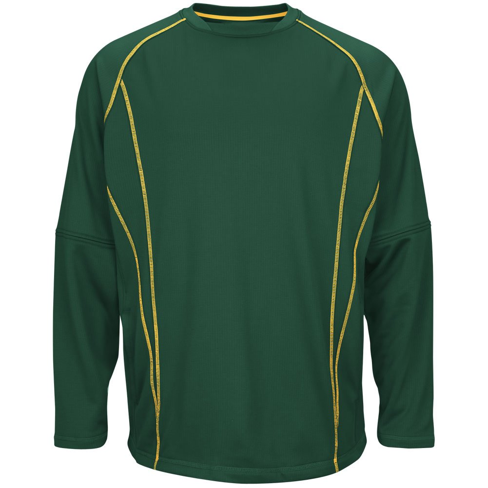 Majestic Youth on fieldフリースPracticeプルオーバー B00U1CKRSM XL|Green|yellow Green|yellow XL
