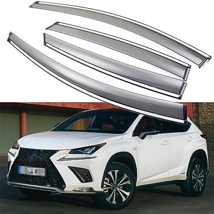 For Lexus NX200t NX300h 2015-2017 ABS Chrome Taillight Rear Lamp Cover Trim 4pcs