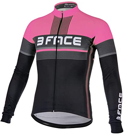 half off d8648 aac5c Threeface Maglia Manica Lunga Ciclismo Deal Donna: Amazon.it ...