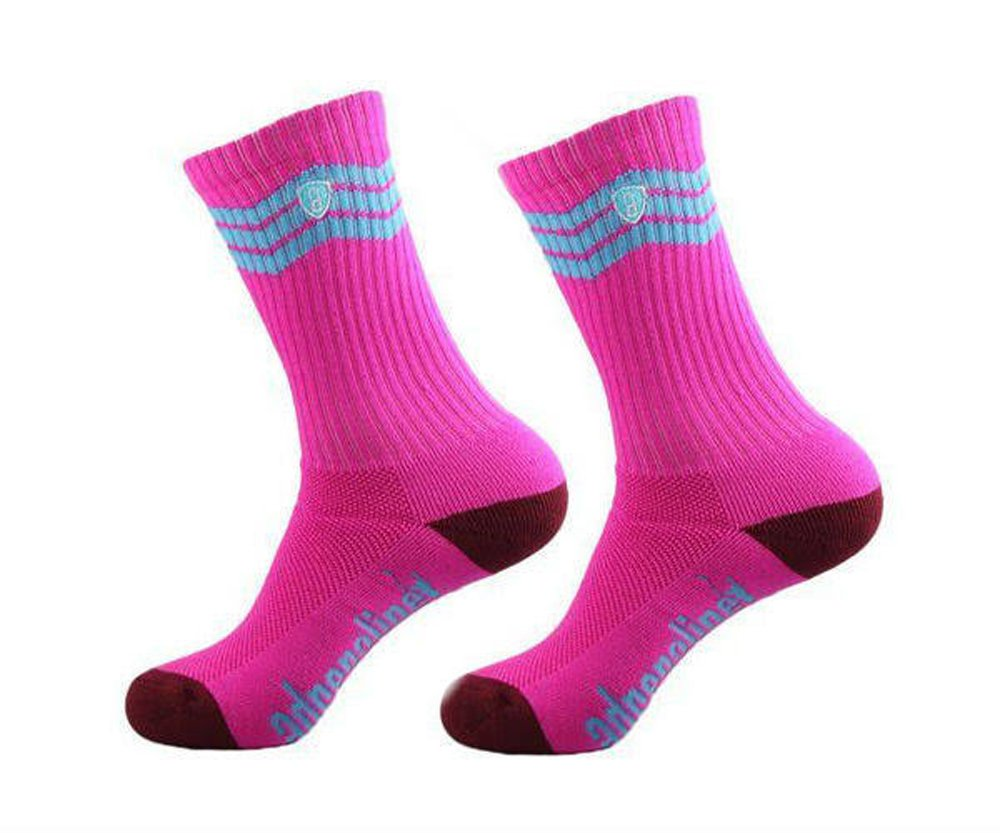 Adrenaline Pink One Size Fits All Lacrosse Athletic Socks