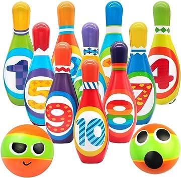 Symiu Bolos Niños Juegos Jardin con Numeros al Aire Libre en Interiores Juegos educativos Regalos para niños 3 4 5: Amazon.es: Juguetes y juegos