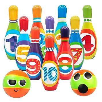 f4e7b26045a56 Bowling Kinder Kegelspiel Set Kegeln Spiel Bowlingkugel Boule-Spiel Draußen  Indoor Spielzeug Geschenk für Kinder