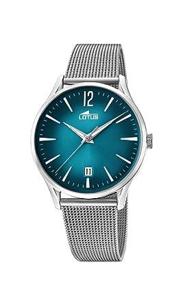 Lotus Watches Reloj Análogo clásico para Hombre de Cuarzo con Correa en Acero Inoxidable 18405/4: Amazon.es: Relojes