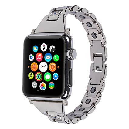 Amazon.com: Compatible for Apple Watch Band 38mm, iZion ...