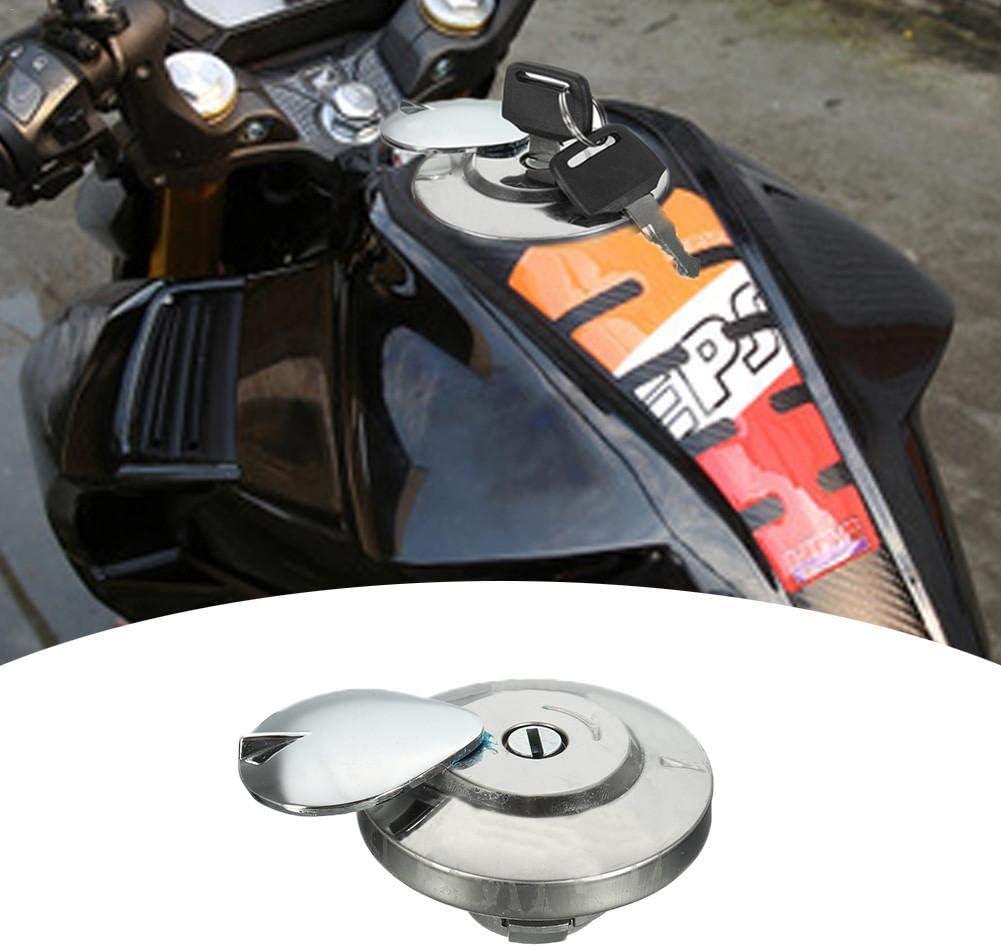 Fuel Tank Cap-Motorcycle Fuel Gas Cap Tank Cover with 2 Keys for Honda Shadow Spirit VT750 DC C2 VLX VT600
