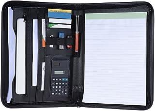 Coafit Porte-Documents Zipper A4 Card Pouch Sac à Main Sac d'affaires avec Calculatrice
