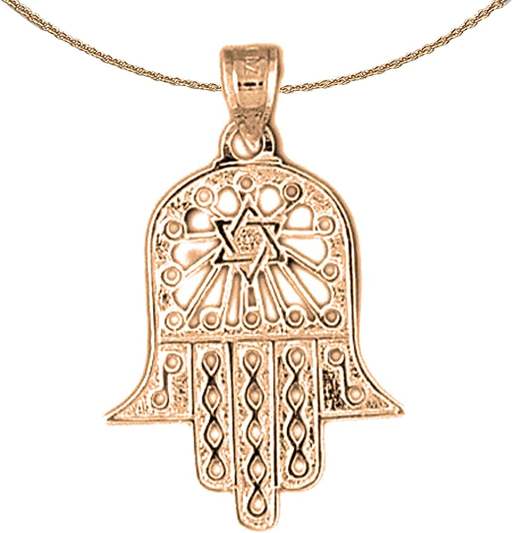 14K Rose Gold-plated 925 Silver Star Pendant with 16 Necklace Jewels Obsession Star Necklace