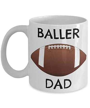Amazon.com: Fútbol Papá celebración de su único – Baller ...