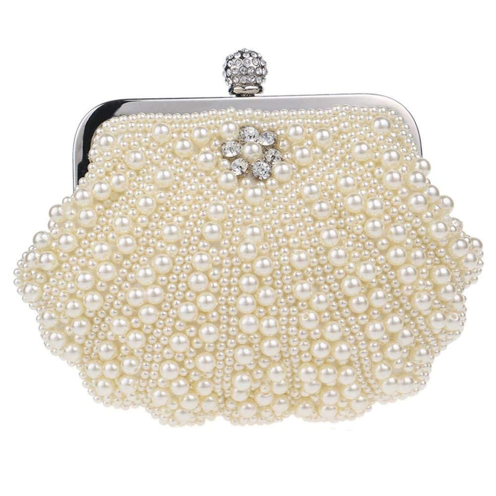 28639ff8afb2 IRVING Women Evening Pearl Crystal Shell Handbag Party Bridal Clutch ...