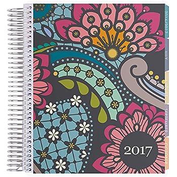Erin Condren 12 Month 2017 Lifeplanner, Paisley Vertical, Colorful Interior (AMA-12M 2017 25)