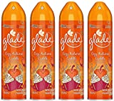 Glade Air Freshener Spray - Limited Edition - Holiday Collection 2018 - Cozy Autumn Cuddle - Net Wt. 8 OZ (227 g) Per Can - Pack of 4 Cans