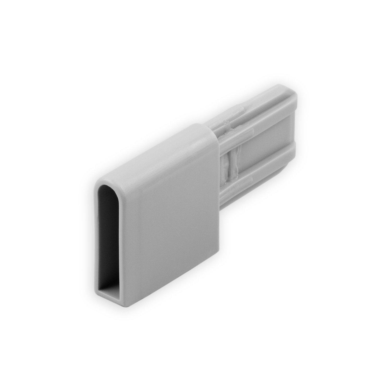 DIWARO Endstabgleiter grau oder wei/ß Rollo f/ür Endleiste Endschiene Jalousie Material Kunststoff Gr/ö/ße 28mm x 28,5mm x 9mm Winkelendschiene Farbe braun wei/ß Rolladenpanzer