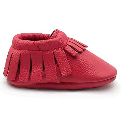 c68d436806d8 Owlowla Baby Moccasins Leather Soft Sole Newborn Crib Shoes for Boys and  Girls