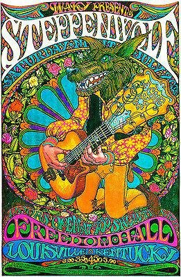 Steppenwolf - 1969 - Freedom Hall - Louisville, Kentucky Concert Poster
