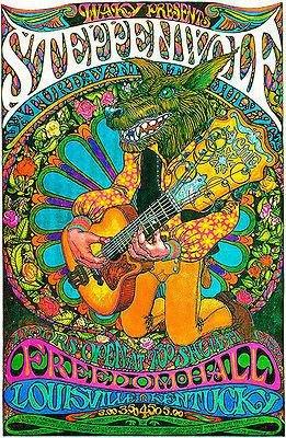 (Steppenwolf - 1969 - Freedom Hall - Louisville, Kentucky Concert Poster)