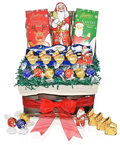 Lindt Christmas Chocolate Variety Gift Baskets - Lindt & Butlers Chocolates - Christmas Santa, Reindeer, Truffles Mixed Gift Pack - Perfect Christmas Gift For Men, Woman, Family