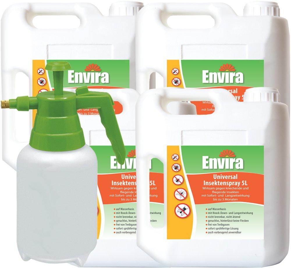 ENVIRA Insekten Abwehr-Spray 4x5Ltr + 2Ltr Sprüher
