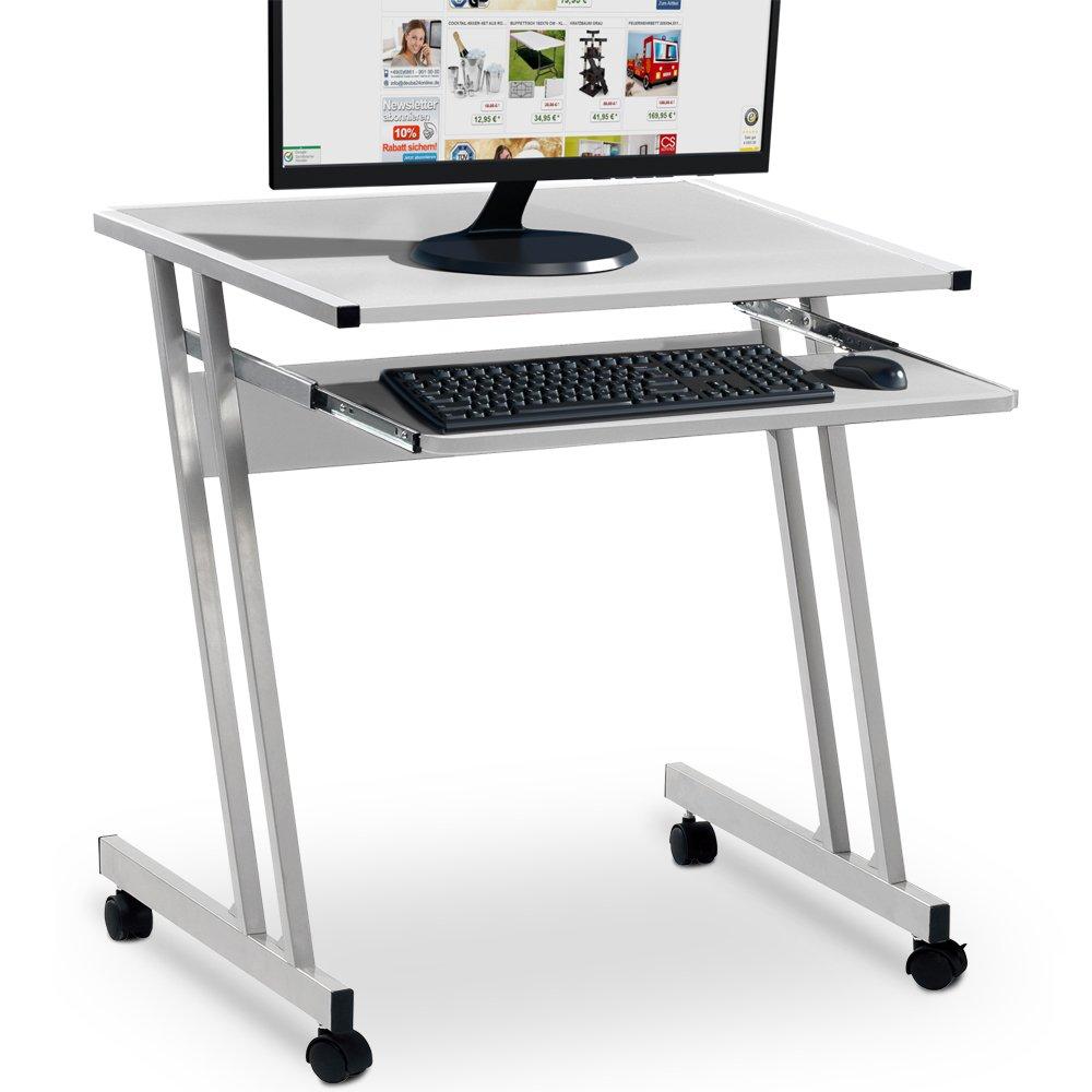 Deuba Bureau informatique avec tiroir coulissant clavier 62x48x73cm blanc product image