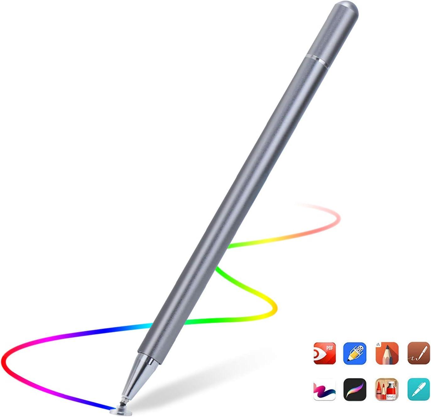Lapiz Stylus Pen Capacitivo Para Pantallas Tactiles. Gris.