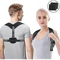 Guenx Haltungskorrektur, Geradehalter Schulter Rückenstütze, ideal zur Therapie für haltungsbedingte Nacken, Rücken und Schulterschmerzen für Damen und Herren