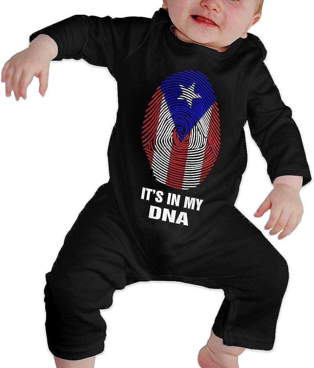 Puerto Rico Flag Basketball Toddler Baby Long Sleeve Bodysuit Coverall