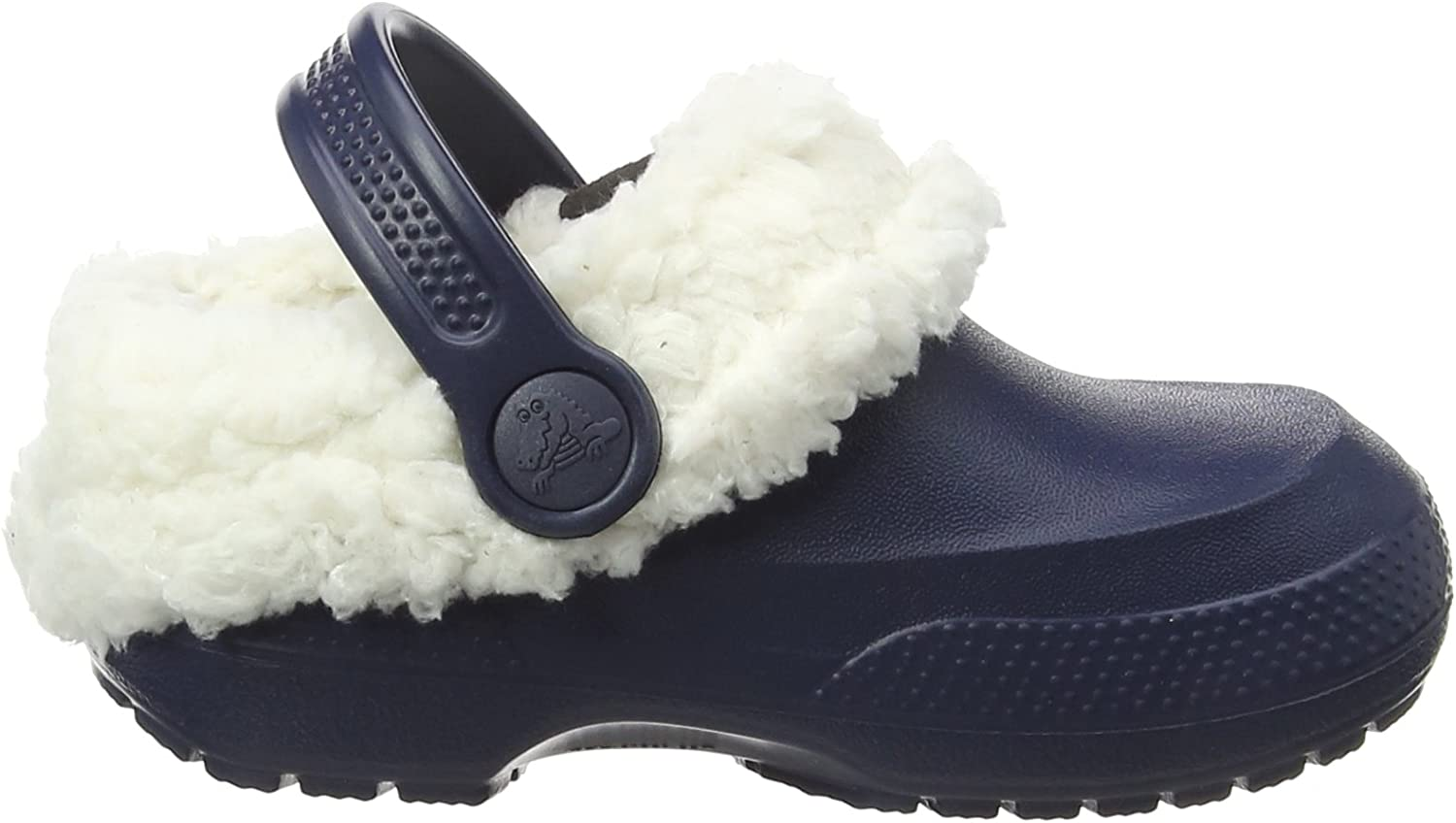 Navy//Oatmeal Toddler//Little Kid crocs Classic Blitzen II Clog 2 M US Little Kid