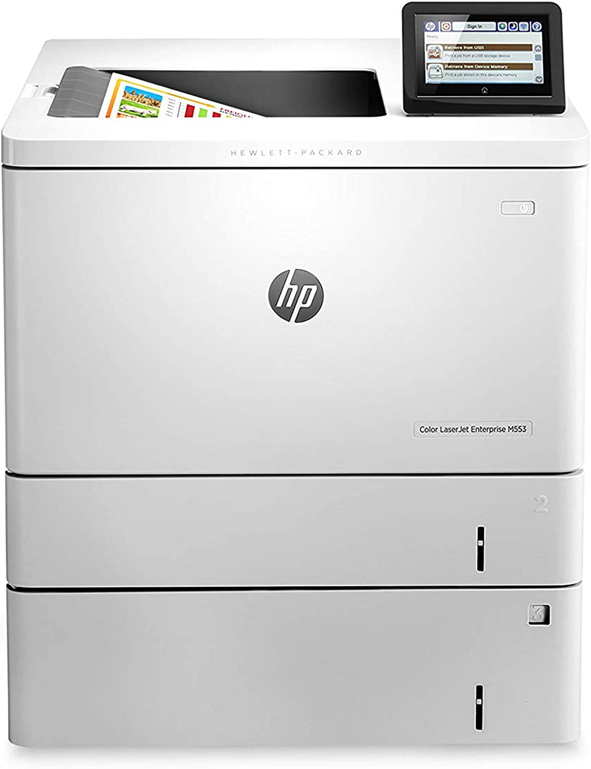 HP LaserJet Enterprise M553x Color Printer, (B5L26A) , White , Standard