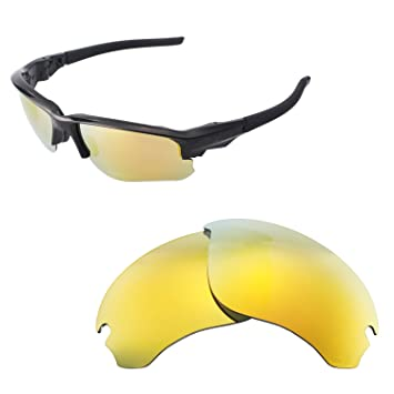 fc3d7bd52e Walleva Replacement Lenses for Oakley Flak Draft Sunglasses - Multiple  Options Available (24K Gold -