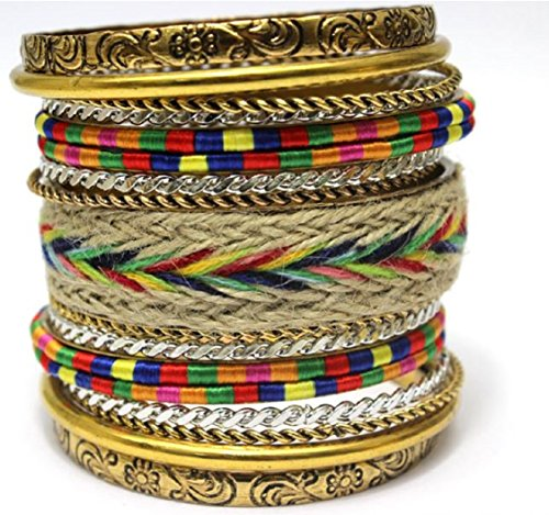 Classic Fashion Big Size Bangle 18K Gold Plated Charm Women Brand Bracelets Bangles (Multi Color)