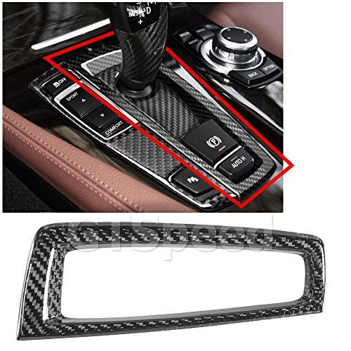 Sure Shift - GTSpeed Made for BMW F10 F11 5-Series Carbon Fiber Gear Shifter Shift Surround Cover (MAKE SURE YOUR FACTORY SHIFTER LOOKS LIKE PICTURED)