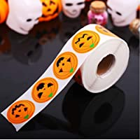 500 pcs Halloween Sealing Sticker Ghost Pumpkin Stickers Adhesive Label Stickers Round Sealing Decals Candy Bag Gifts…