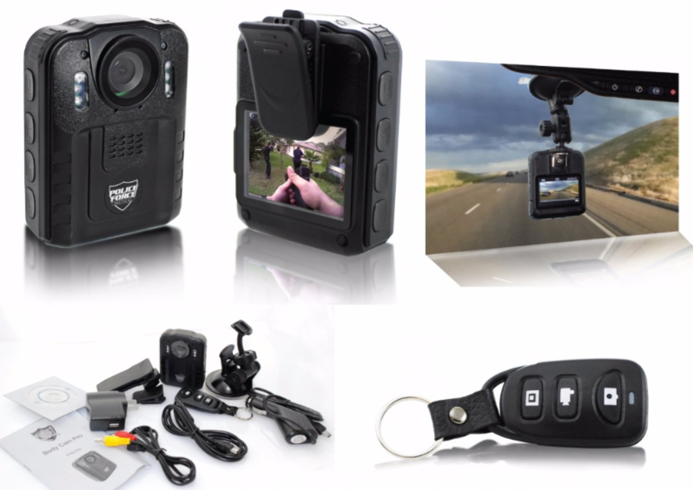 Amazoncom Police Force Tactical Body Camera Pro
