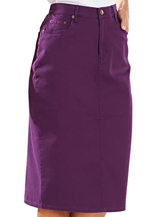 88a428cf54 Bend Over Colored Denim Skirt at Amazon Women's Clothing store: