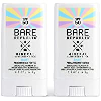 Bare Republic Mineral SPF 50 Baby Sunscreen Stick. Unscented and Gentle Sunscreen Stick with SPF 50 for Babies 6 Months…