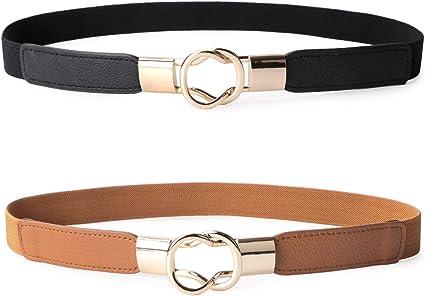 Waist Belt Adjustable Metal Women Vintage Leather Buckle Waistband SL