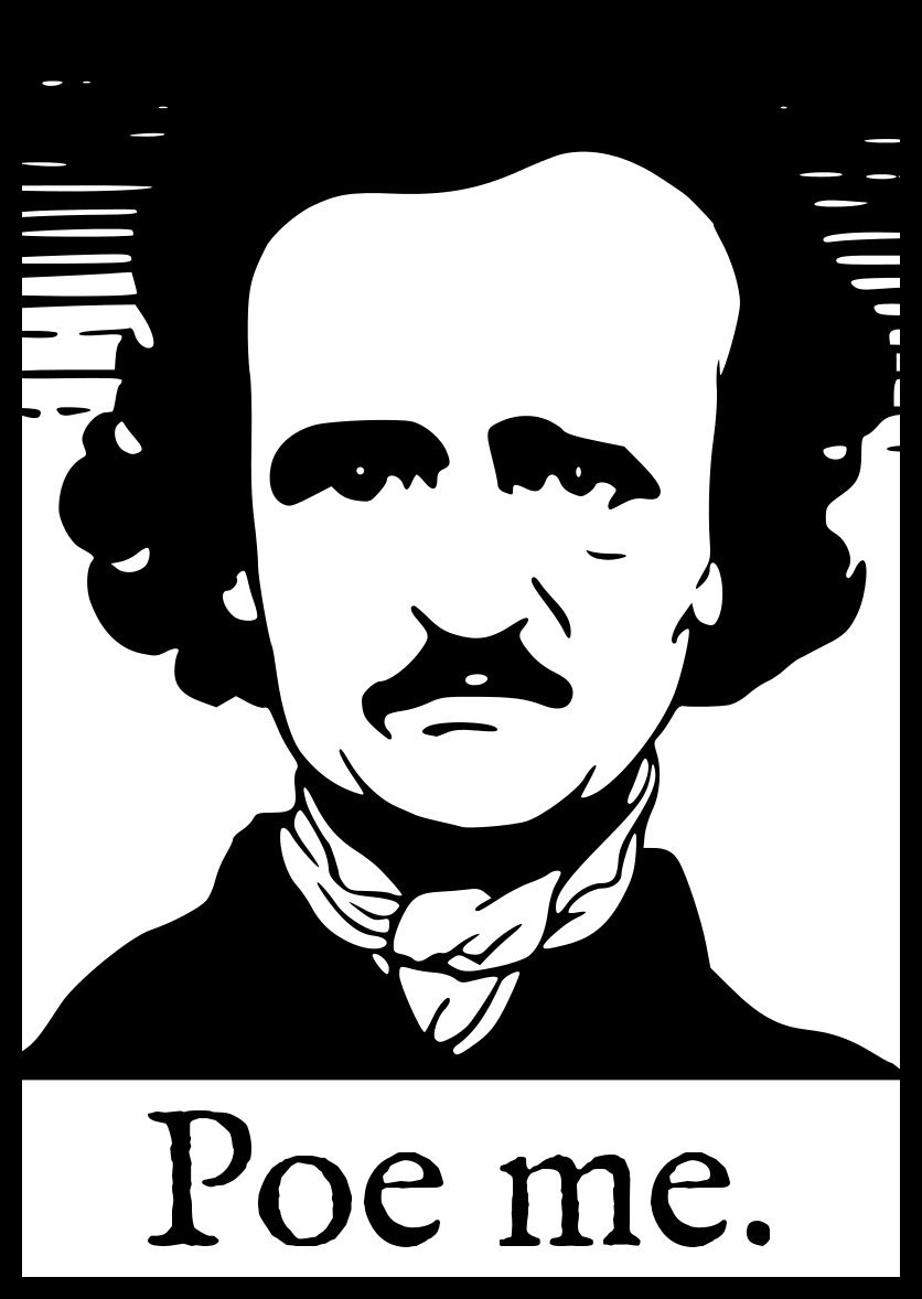 Amazon com comedy sticker edgar allan poe allen poor me funny self pity emo goth the raven everything else