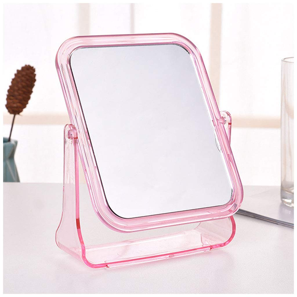 MEIMEI Specchio per il Trucco Specchio da scrivania Portatile Specchio per Principessa Dormitorio Specchio per scrivania Mini Specchio Doppio (Color : Bianca)