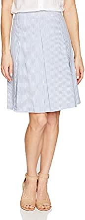 NINE WEST Women's Seersucker Pleated Skirt